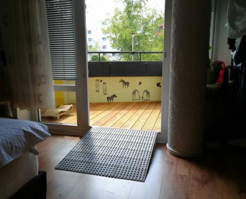 Balkonerhöhung mit Rampe