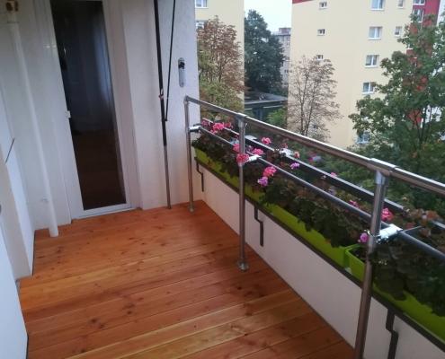 Balkonfußboden erhöht